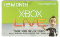 XBOX Live 12 Month Card