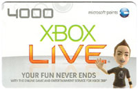 XBOX Live 4000 Points